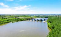 夏季孝河国家湿地公园 水碧草翠林深