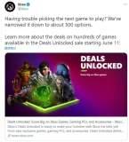 Xbox商店6月11日开启大促 500款游戏打折