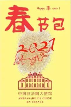 """中国驻法国大使馆为在法留学人员发放""""春节包"""""""