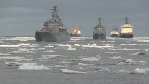 俄海军北方舰队完成第十次北极巡航