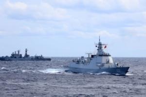 中俄首次海上联合巡航(图集)