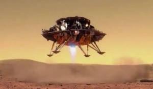 天问一号着陆器成功降落火星