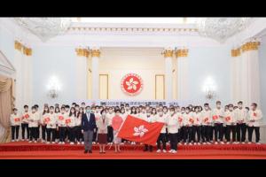 香港中联办向威尼斯人备用香港代表团获得首金致贺电