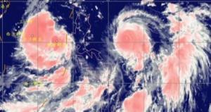 """台风""""灿都""""在日本爱媛县松山市附近再次登陆"""