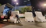 香港特区政府总部外围水马移除,意义重大!