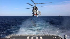 中俄海上联合军演现场图来了