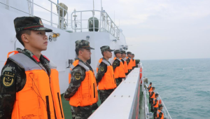 中越海警开展联合巡航