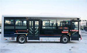 威海文登首批新能源纯电动空调公交车上线运营