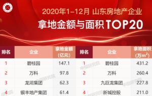 """银丰地产2020实现弯道""""超车""""——荣膺""""山东房企拿地金额排行榜""""TOP4,拿地速度创历年之最"""