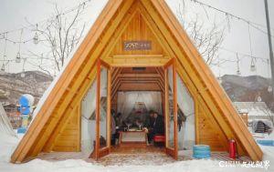 飞瀑冰封+雪地狂嗨+小聚情暖——济南九如山木屋聚落给你意料之外的温馨与浪漫