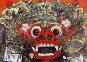 神秘而灿烂——著名画家蔡玉水与他的混合颜料作品《英雄巴龙》