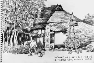 街头即兴画起,生活气息浓郁——著名画家孔维克日本速写作品欣赏