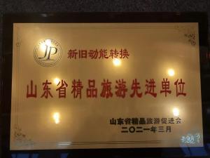 山东省精品旅游促进会2020年度表彰大会举行,三庆实业集团获评精品旅游先进单位