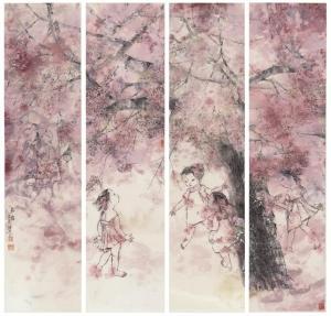 诗意、浪漫、朦胧——著名画家张锦平笔下的童年之梦