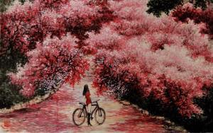 不负春光——著名画家王焕波走进美好春天,浓墨重彩绘春景