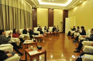 中国杂技家协会分党组书记、驻会副主席唐延海一行到山东省杂技团调研,点赞杂技文化山东力量