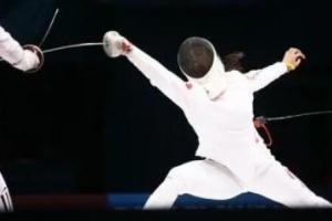 女子重剑比赛 中国队三位选手全部晋级16强