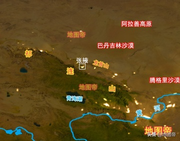 航拍张掖甘州机场,海拔1588.5米的高原机场