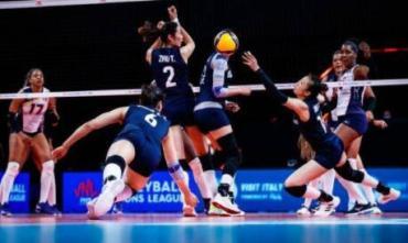 中国女排3-1多米尼加