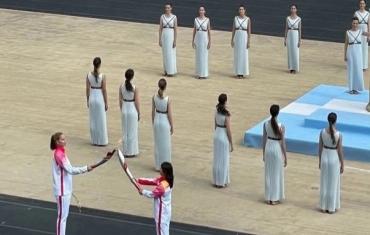 北京冬奥会火种在希腊顺利交接