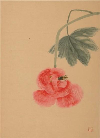 芙蓉蜜蜂 齐白石 1920