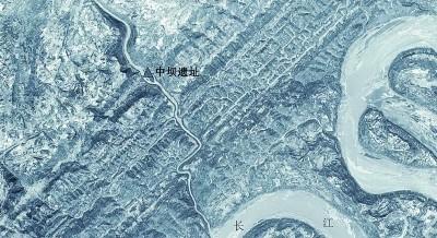 1971年拍摄的中坝遗址位置 资料图片