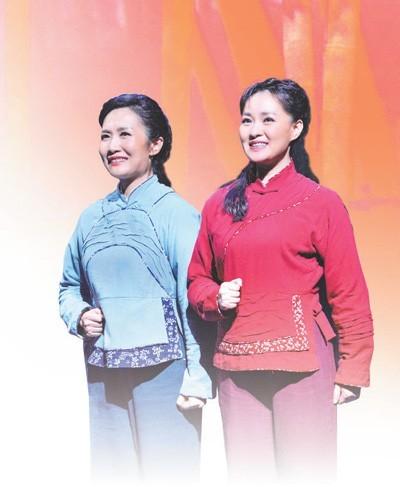 图为国家大剧院版经典民族歌剧《党的女儿》剧照。