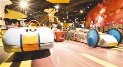 北京汽车博物馆四层汽车运动展区。  北京汽车博物馆供图