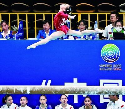 体操女子团体决赛:每一道弧线都是拼搏的注脚