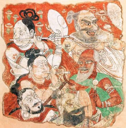 藏于东京国立博物馆的柏孜克里克石窟壁画