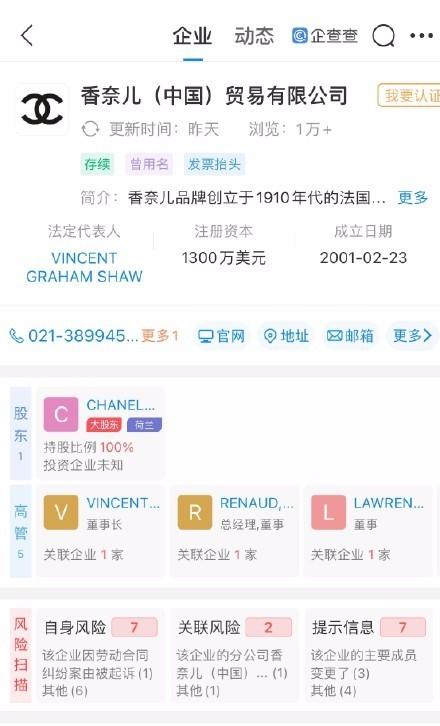香奈儿发布虚假广告被罚款20万