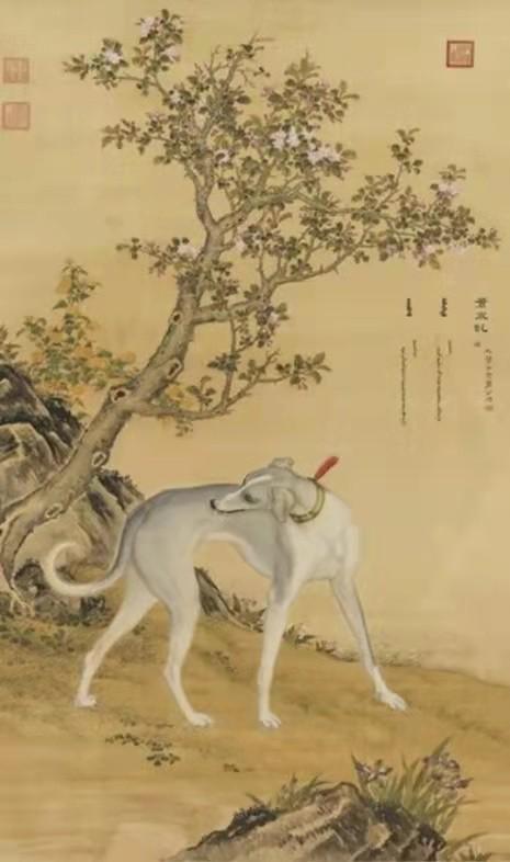 清·郎世宁《十犬图》台北故宫博物院藏