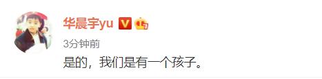 华晨宇承认:我们有一个孩子