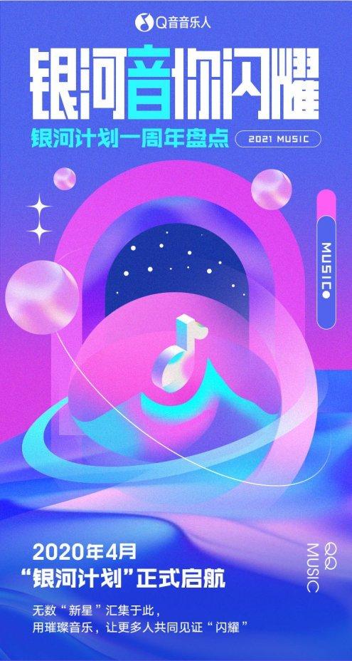 "QQ音乐""银河计划""上线一周年 已成新星与热歌的""爆发地"""