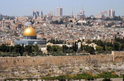 △如今的耶路撒冷老城图片来自网络