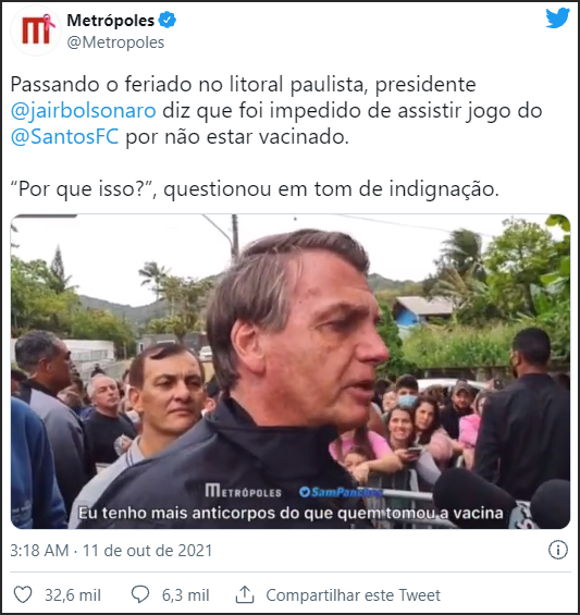 巴西新冠死亡人数超60万 总统竟反问:哪国没死人