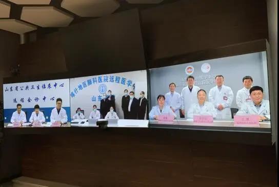 刘家义看望并肯定山东省立医院援建的新疆喀什地区肺科医院远程医学中心及医务人员