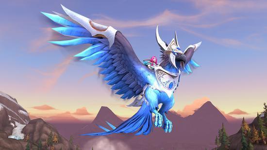 魔兽世界购买180天游戏时间 送全新蓝玉灼天者坐骑