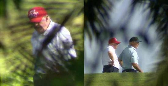 (图说:特朗普周四在佛罗里达打高尔夫。图/CNN)