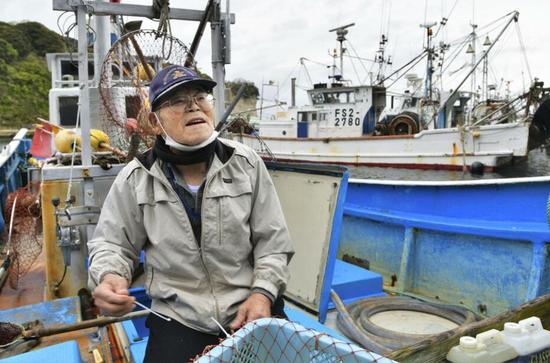 福岛渔民发声(日媒截图)