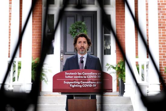 特鲁多6月25日在渥太华举行记者会