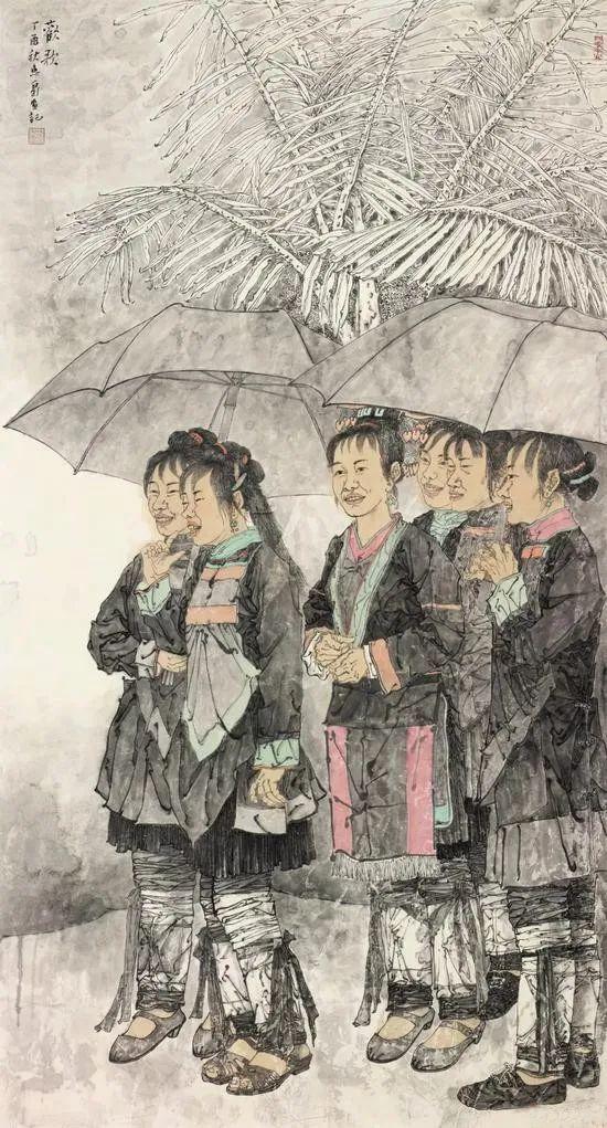 柔美多姿,仪态万方——著名画家徐惠泉以工笔重彩将东方女性的美跃然纸上