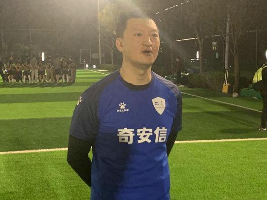 奇安信足球队队长杨建:成绩是平时努力的结果