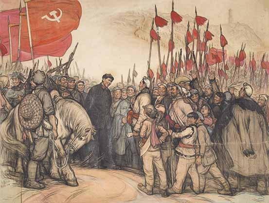 14 刘文西《毛主席到陕北》138x184cm 1965年
