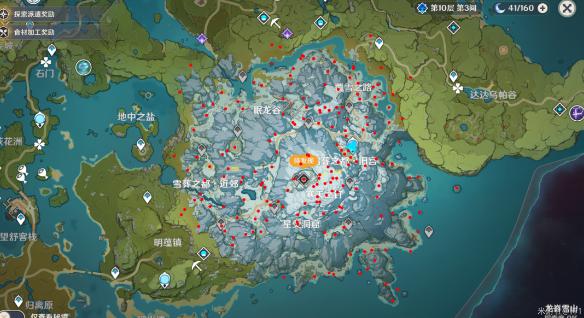 原神龙脊雪山全宝箱收集路线分享