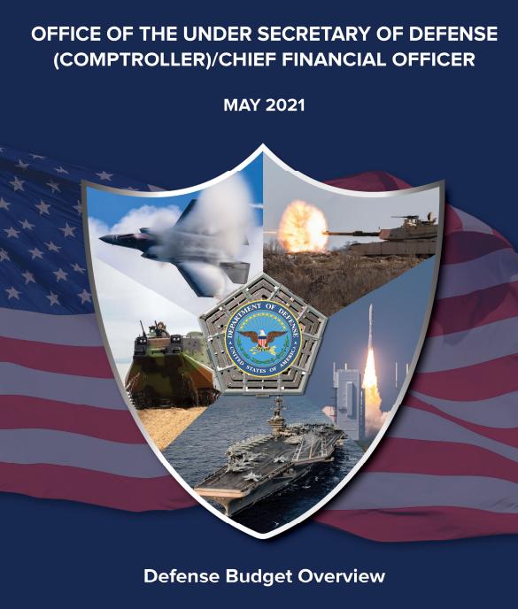 美国国防部发布的2022年财年预算封面 图源:美国国防部