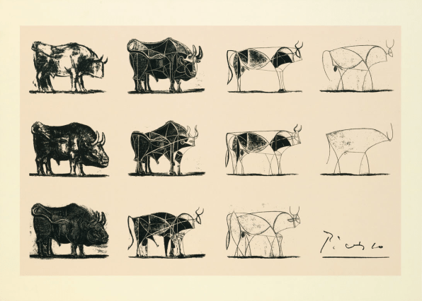 《公牛图》,毕加索