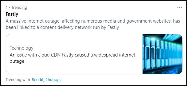 美国网络服务商宕机,全球网站大规模瘫痪