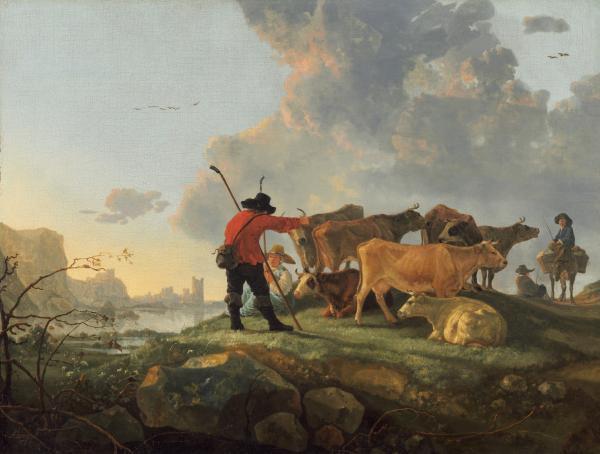 《照料牛群的牧人》,艾尔波特·盖依普