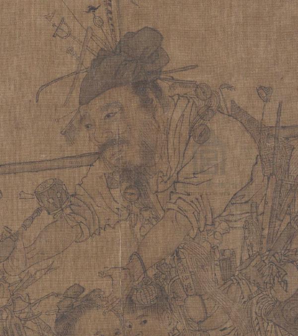 故宫博物院藏《货郎图》中的货郎形象 (非此次展品)